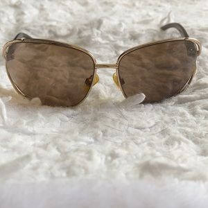 KENNETH COLE gold & brown sunglasses